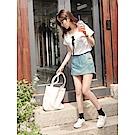 質感多色打褶造型後腰鬆緊彈性短褲裙.5色-OB大尺碼