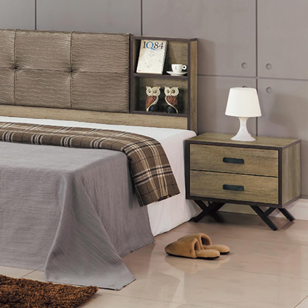 AS-亞當仿古色床頭櫃-52x40x46cm