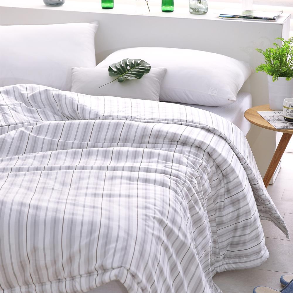 Cozy inn 生活-灰-300織精梳棉-涼被(5X6尺)