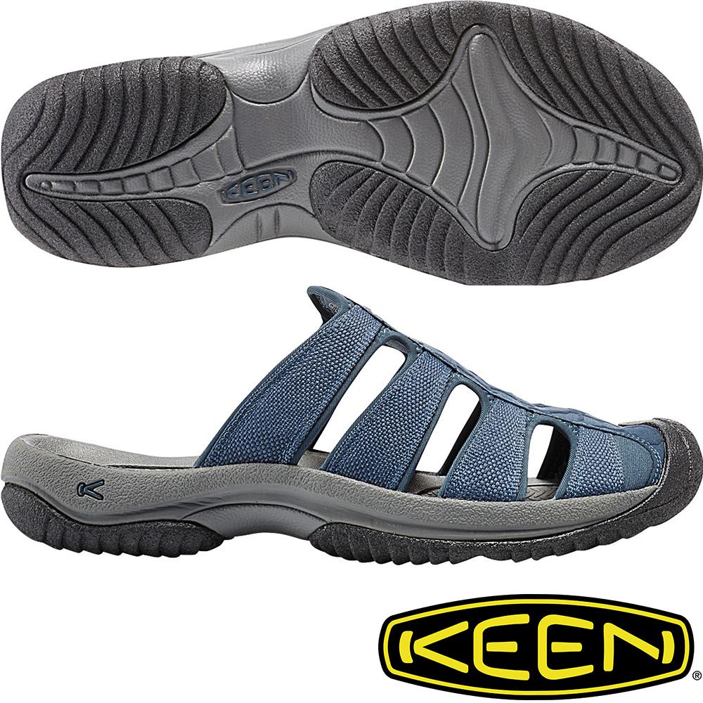 KEEN 男運動護趾拖鞋Aruba II-1016794深藍