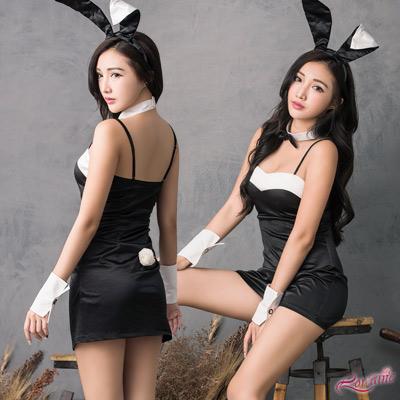 角色扮演 俏麗兔女郎角色扮演服五件組(黑F) Lorraine