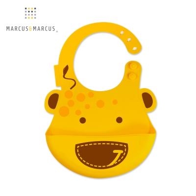 MARCUS&MARCUS 動物樂園矽膠立體圍兜(長頸鹿)