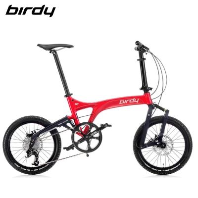 New Birdy(Ⅲ) GT 10速前後避震折疊單車-黑耀紅