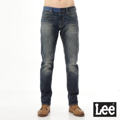 Lee 牛仔褲 735 中腰舒適小直筒-男款 中古深藍