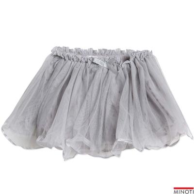 Minoti 英國 灰色銀邊下擺網紗公主短裙
