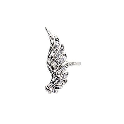 正韓 鍍白金 天使的翅膀 小華麗 免耳洞 耳骨環 耳夾 微醺.禮物
