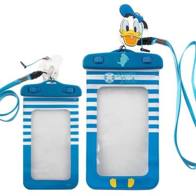 Disney迪士尼5吋通用可愛繽紛手機防水袋(附夾子捲線器耳機塞)-唐老鴨