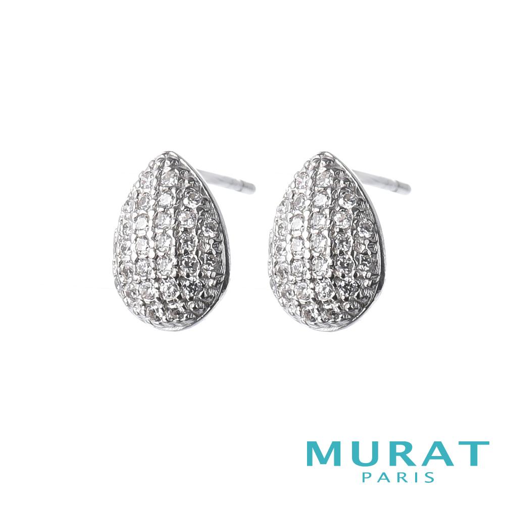MURAT Paris米哈巴黎 璀璨滿鑽水滴耳環