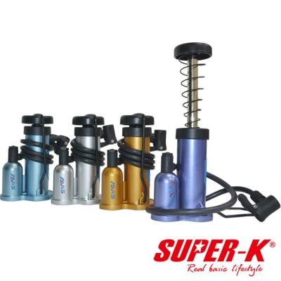 SUPER-K。迷你多功能腳踏氣筒★隨機出貨