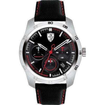 Scuderia Ferrari 法拉利 PRIMATO 計時手錶-黑/44mm