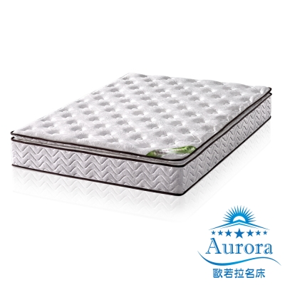 歐若拉 正三線乳膠特殊QT舒柔布封邊獨立筒床墊-單人加大3.5尺