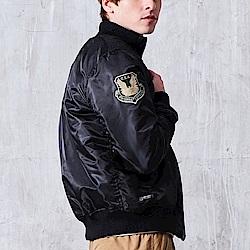 CACO-軍章高領鋪棉MA1外套.情侶款