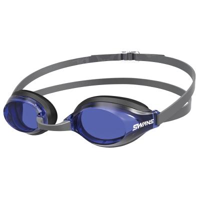 【SWANS 日本】光學通用型泳鏡 (防霧/抗UV/矽膠 SR-3N 黑/藍 )
