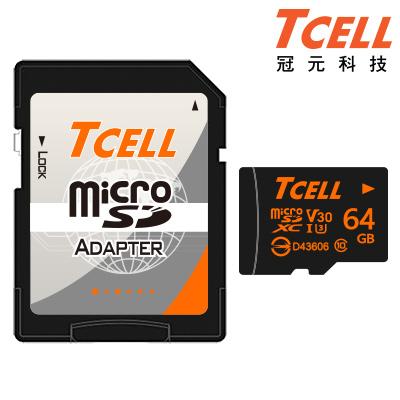 TCELL冠元 MicroSDXC UHS-I(U3) 64GB 90/60MB 記憶卡