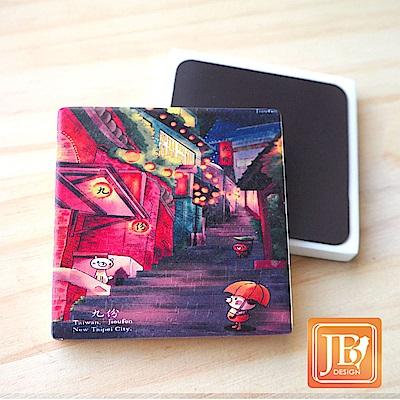 JB Design_就是愛台灣杯墊方磁鐵-183_小雨九份