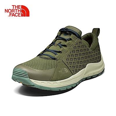 The North Face北面男綠色耐磨?震休閒鞋