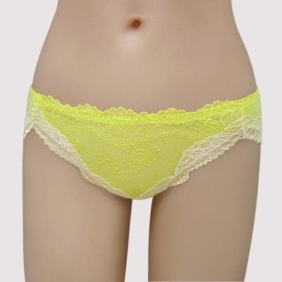 瑪登瑪朵-美透了Bra我挺妳-低腰三角棉褲-粉彩黃