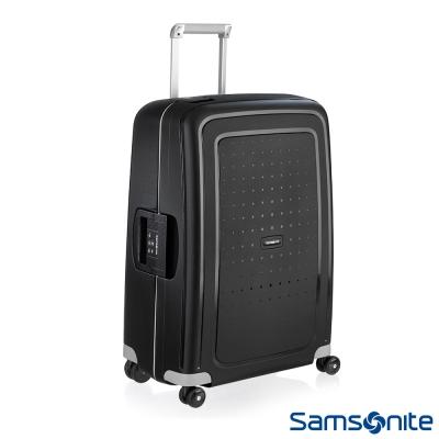 Samsonite新秀麗 25吋S'CURE四輪PP硬殼TSA扣鎖行李箱(黑)