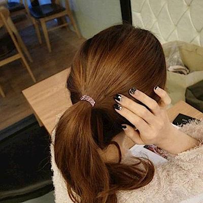 Hera 赫拉 帶扣雙色麻花髮圈8入-隨機色
