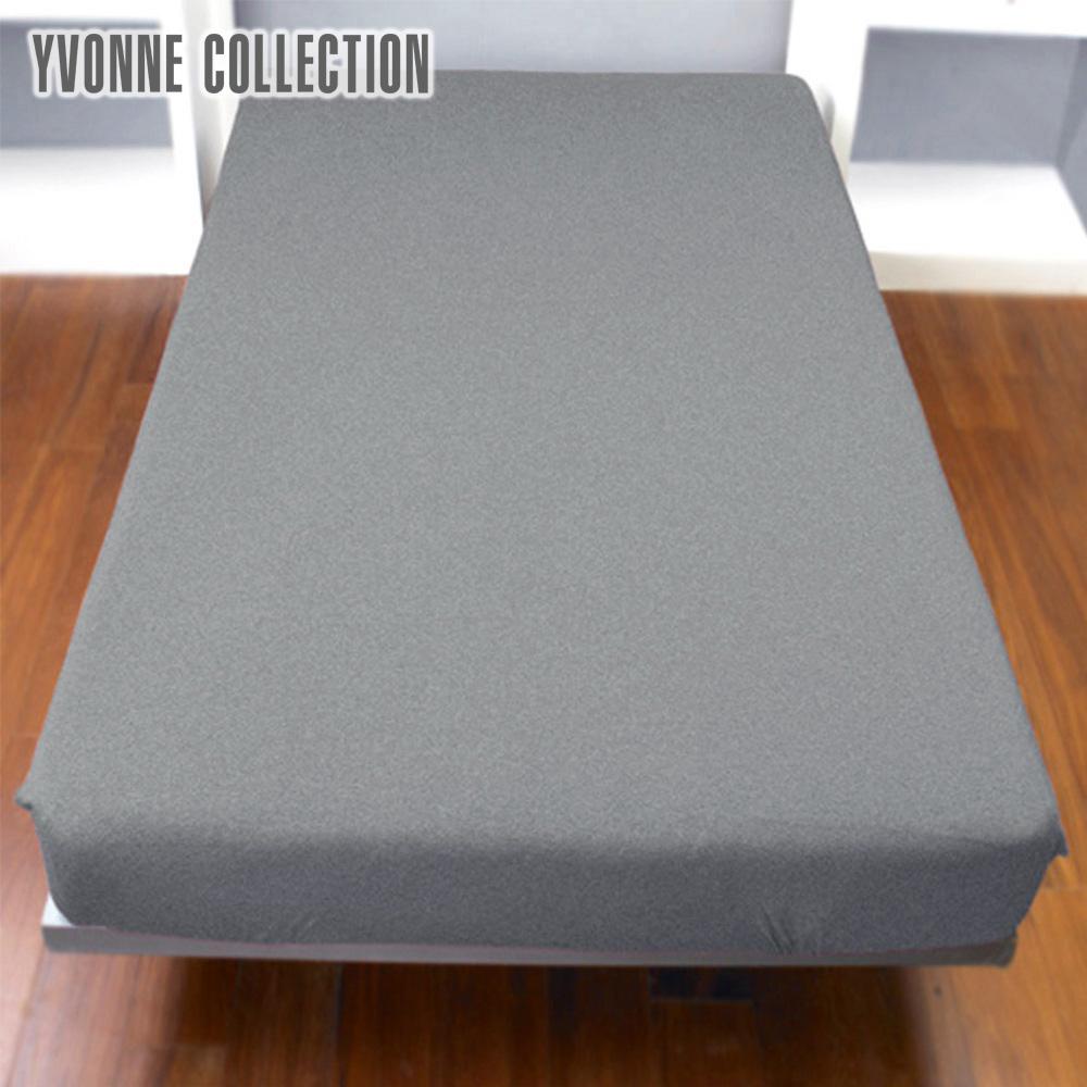 Yvonne Collection 特大純棉床包-暗灰