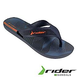 Rider 巴西 男 STRIKE 休閒夾腳拖鞋(曲線藍)