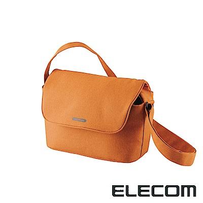 ELECOM normas休閒多功能相機側背包-橘