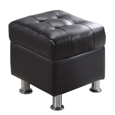 AT HOME-庫倫1.32尺深咖啡皮沙發椅凳