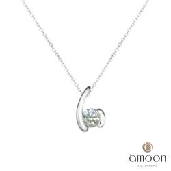 amoon 日式鉑金系列 唯一 鉑金鑽石墜子 送18K金純銀項鍊