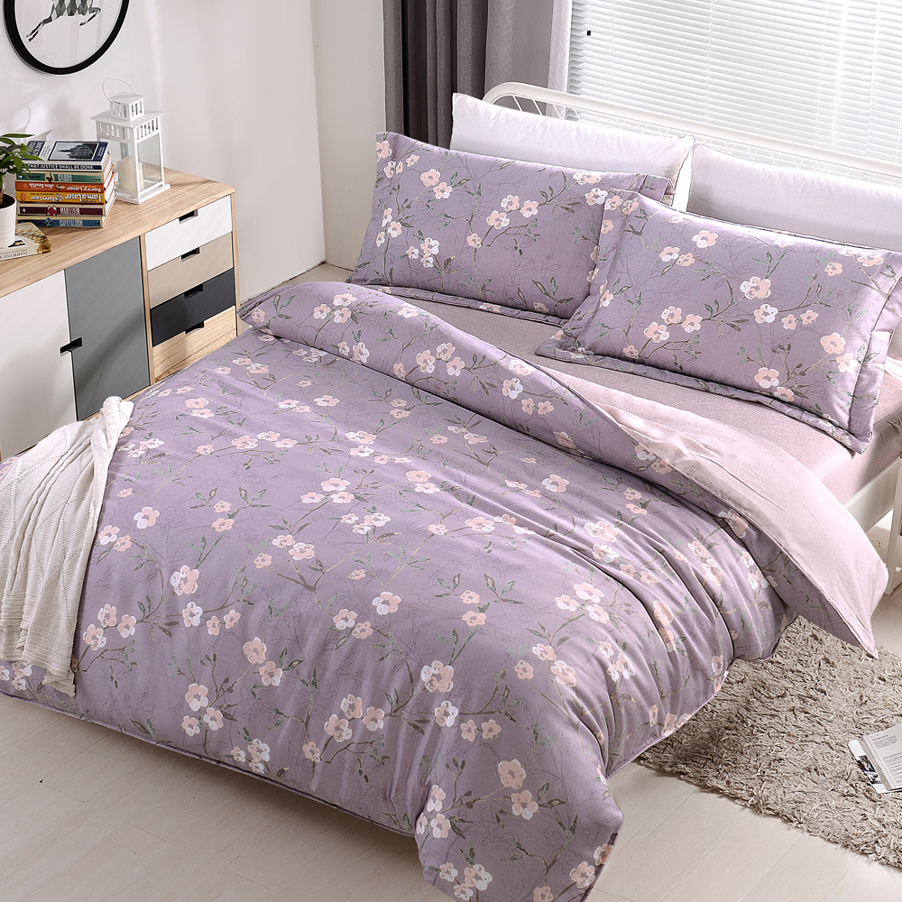 HOYACASA星空之語 雙人四件式天絲全舖棉兩用被床包組
