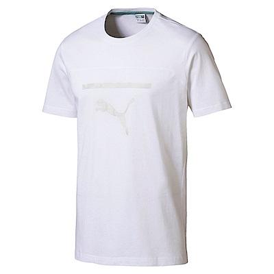 PUMA-男性流行系列Pace圖樣短袖T恤-白色-亞規