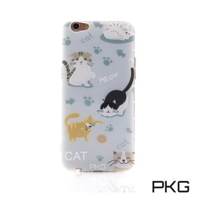 PKG OPPO R9S空壓氣囊保護殼-浮雕彩繪-玩耍貓