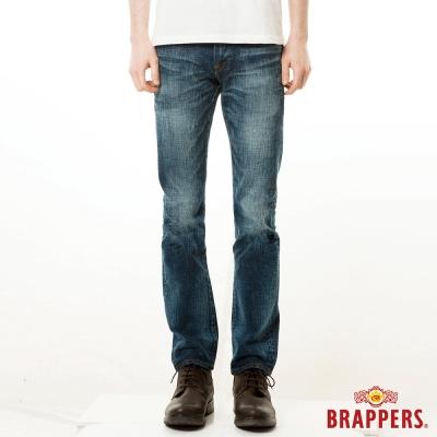 BRAPPERS 男款 紅布邊系列-男用中腰中直統褲-藍