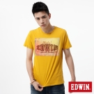 EDWIN T恤 街景貼布圓領T恤-男-黃色