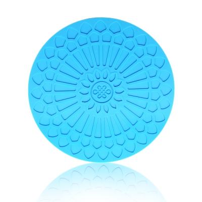Quasi蔓舞矽膠圓熱墊-藍