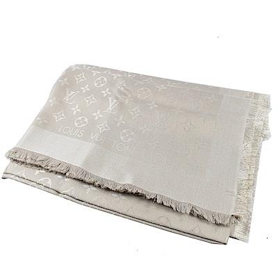 LV M71336 MONOGRAM花紋大方巾圍巾( 灰樹色)