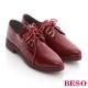 BESO 閃耀英倫 雅痞紳士風綁帶低跟牛津鞋