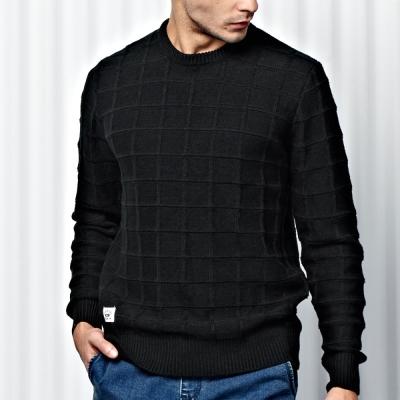格紋組織毛衣-CACO