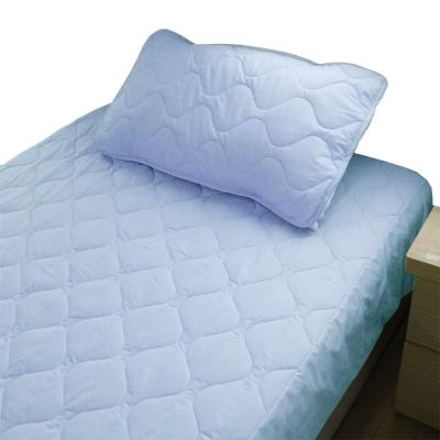 bedtime story 舒適繽紛彩虹保潔墊-水藍-雙人特大6x7尺平單式
