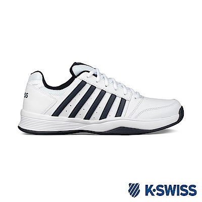 K-Swiss Court Smash輕量網球鞋-男-白/黑