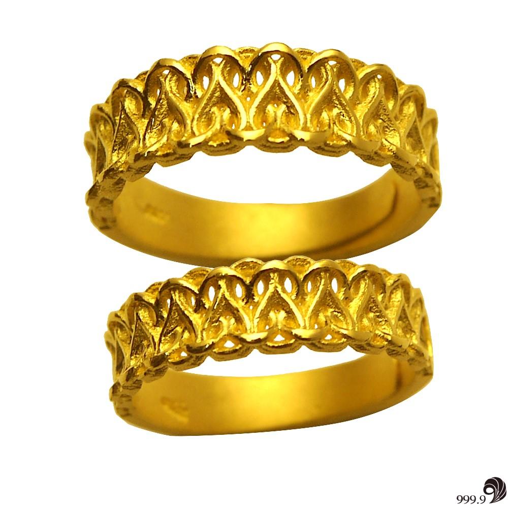 歷代風華-幸福纏綿黃金對戒(約2.56錢)