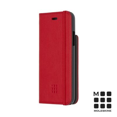 MOLESKINE IPHONE X 經典筆記造型掀蓋皮套-紅