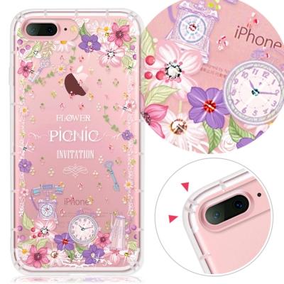 YOURS APPLE IPhone7 Plus奧地利水晶彩繪防摔氣墊手機鑽殼-野之宴