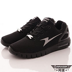 ARNOR-反光乳膠氣墊跑鞋款-SI3398武士黑(男段)