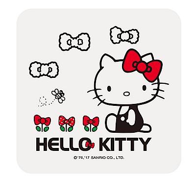 【三麗鷗獨家授權】Hello Kitty繽紛彩繪杯墊/皂盤-田園趣