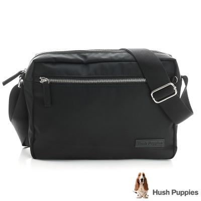 Hush Puppies 休閒斜背包-黑色