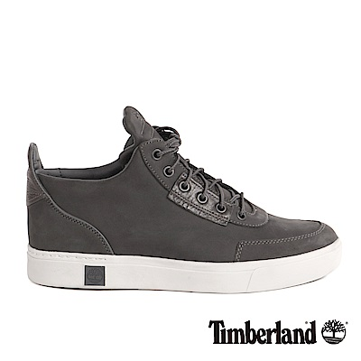 Timberland 男款Amherst灰色絨面高筒休閒鞋