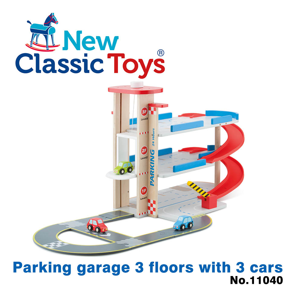 【荷蘭New Classic Toys】木製立體停車場玩具 - 11040