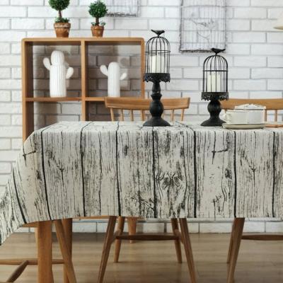 日創優品 復古木紋桌巾-120X120cm
