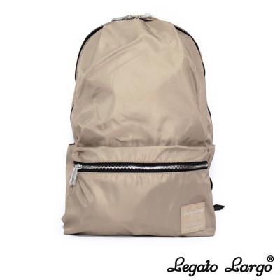 Legato Largo 霧面光澤感尼龍後背包 米色