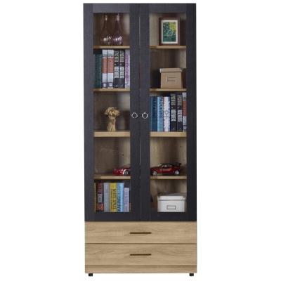AT HOME-高爾2.7尺橡木紋雙門下抽書櫃